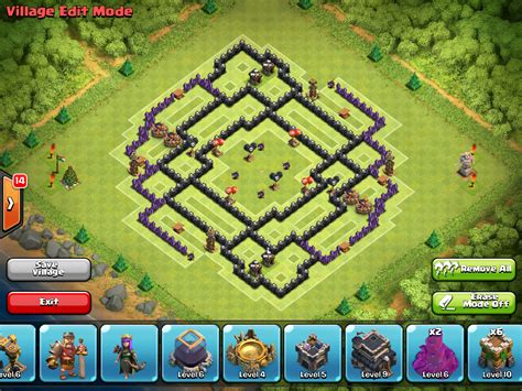 th7 ultimate layout 100 coc maps clash of clans town hall 7 defense