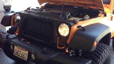 Truck Lite Jeep Jk Truck Lite 7 Quot Led Headlight Vs Stock On Jeep Jk Wrangler