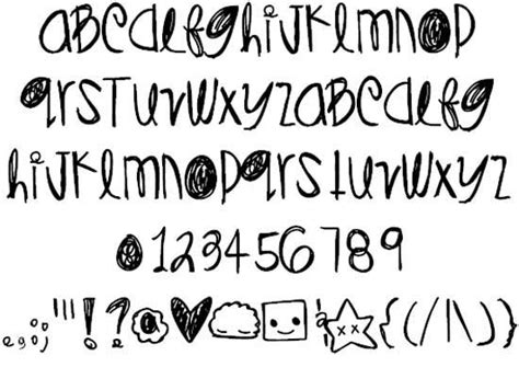 doodle fonts doodle font types for creating designs with theme