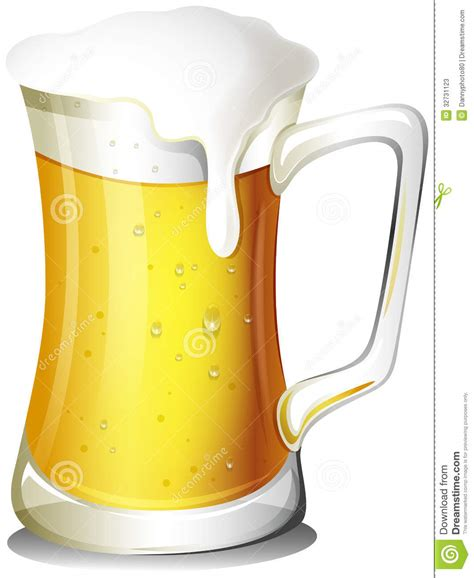 cartoon beer no background a mug full of cold beer stock vector illustration of