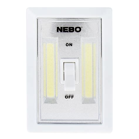 led light switch nebo flipit led light switch 2 pack 215 lumens