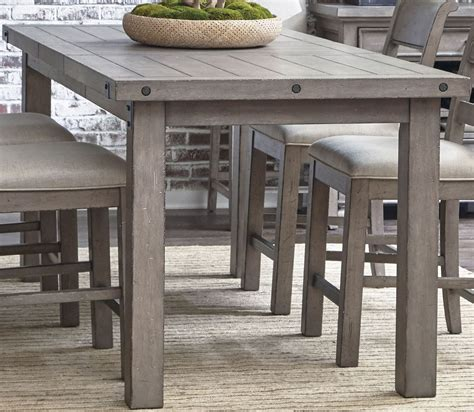 grey counter height table set prospect hill gray rectangular counter height dining table