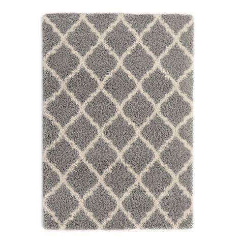 ottomanson area rugs ottomanson ultimate shaggy contemporary moroccan trellis
