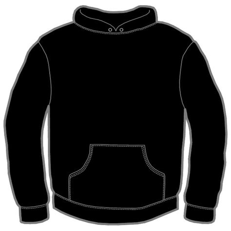 hoodie template hoodie vector template at vectorportal