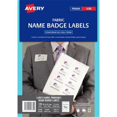 avery printable fabric laser printer avery fabric laser name badge labels 15 sheets 8 per page