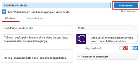 video cara upload video di youtube cara upload video di youtube dan setting judul videonya