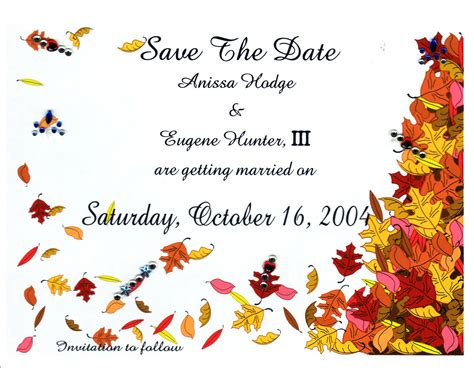 fall templates photo free fall wedding invitation templates images