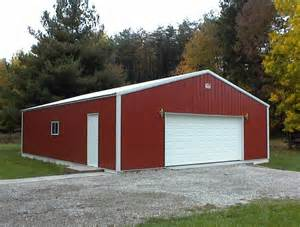 Pole Barn Metal Colors Residential Garage Comer Buildings