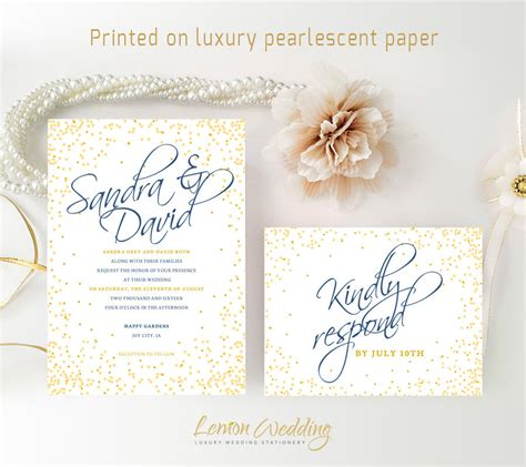 cheap wedding invitations printed on luxury shimmer cardstock