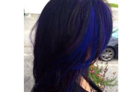 Black And Blue Hairstyles by Black Hair With Blue Highlights Www Pixshark