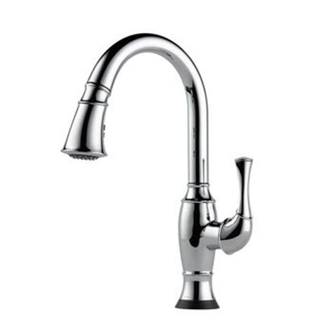 kitchen faucets with touch technology brizo 64003lf pc talo single handle pull kitchen faucet with smarttouch technology chrome