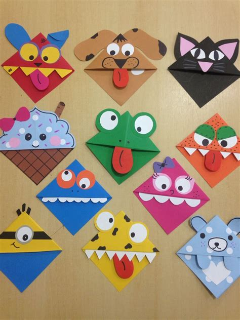 Paper Craft Bookmarks - corner bookmarks bimba e bimbo and craft