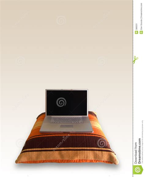 Laptop On Pillow by Laptop On Pillow Stock Image Image 386031
