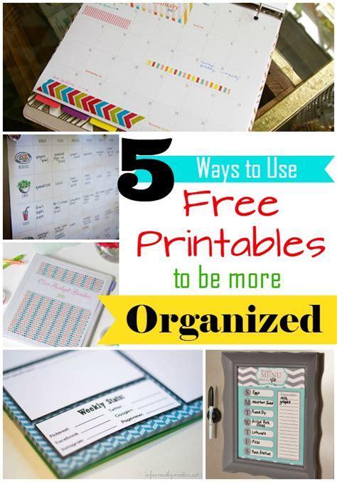5 Ways To Use Free Printables To Get Organized In 2015 | 5 ways to use free printables to get organized in 2015