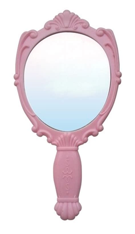 Hold Mirror Model Sui sui inspired mirror pink
