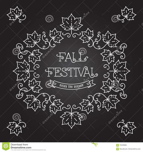 Poster Bingkai Frame Fall Upon fall festival template posters frame maple leaves stock vector image 70239966