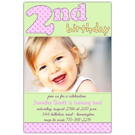 2nd Birthday Pink Invitations Paperstyle 2nd Birthday Invitations Templates Free