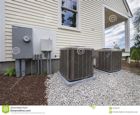 hvac heating  air conditioning units stock photo