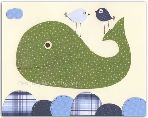 Whale Nursery Decor by Nursery Whale Wall Baby Boy Whale Nursery Decor Children