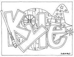 doodle name kyle best 20 template ideas on
