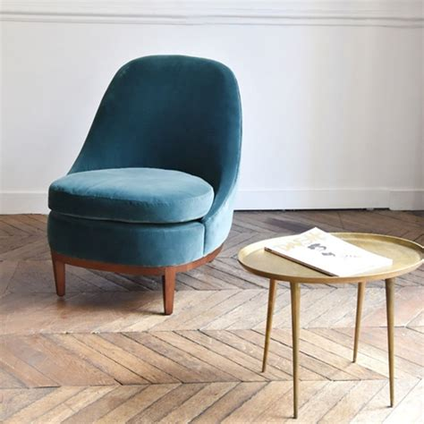 Hamac Cocktail Scandinave by Cheap Fauteuil En Velours De Coton Bourbon Bleu De Prusse