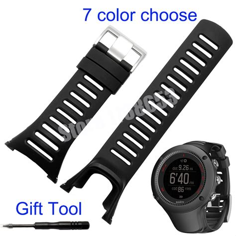 Suunto Ambit 3r Ambit3r Ambit 3 Run With Hrm Lime For Suunto Quality Silicone Rubber Watchband Suunto