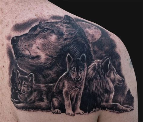 wolf family tattoo designs wolf tattoos pictures to pin on tattooskid