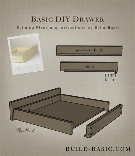 build  basic diy drawer build basic