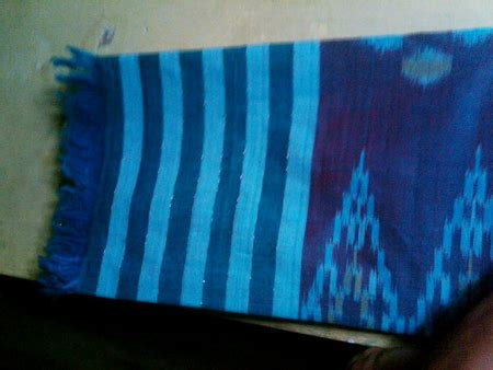 Tenun Baron Biru Mix Orange kain tenun sekaf pantai cv tenun indonesia produksi