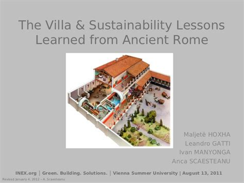 Rich Home Interiors Green Building In Ancient Rome
