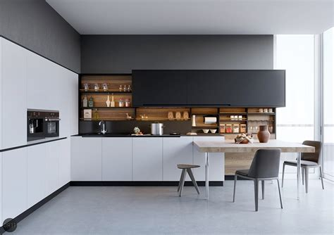 Kitchen With Island Design modern black and white kitchen kitchen ideas and design