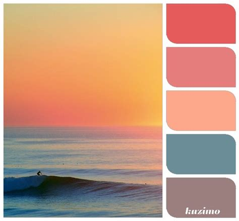 sunset reference for c brown design color inspiration sunsets