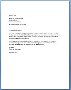 letter of explanation for mortgage levelings