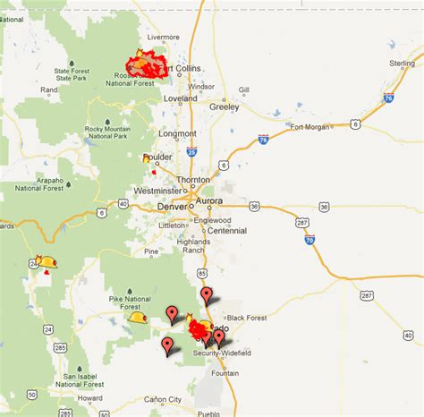 map of current wildfires in colorado check out s real time map of colorado wildfires