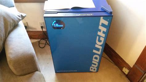 bud light e fridge product review bud light s bud e fridge
