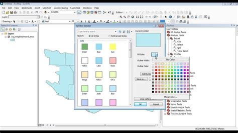 Photogrammetry Course Outline by Arcmap 10 How To Edit Polygon Colour And Outline As Well Label