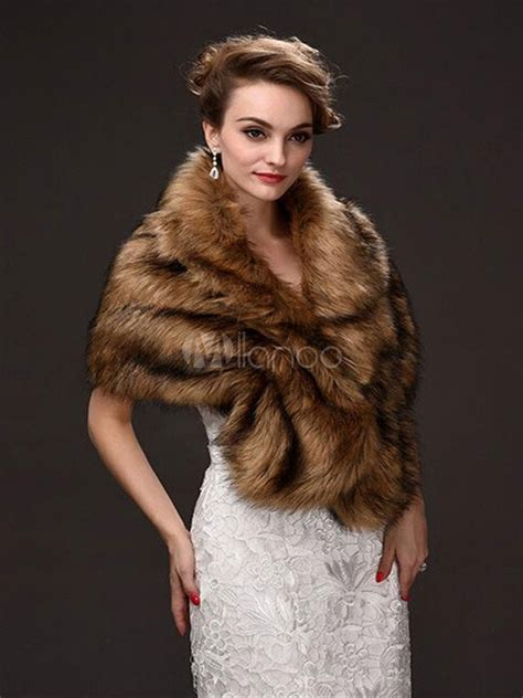 tan shawl faux fur acrylic shawl  women milanoocom