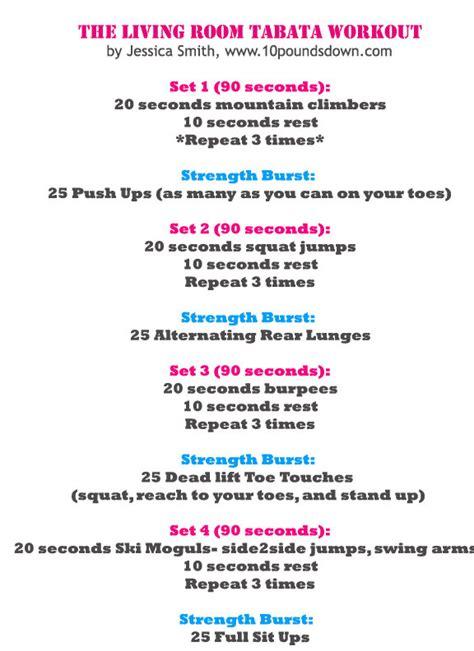 at home tabata workout popsugar fitness