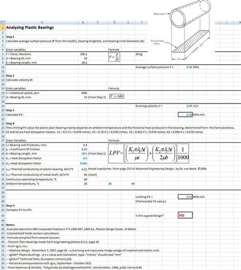Tolerance Analysis Spreadsheet by David Schattner S Sle Spreadsheet Templates On Behance
