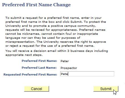Requests Name Change For Pax by Request Preferred Name Change Mycsulb