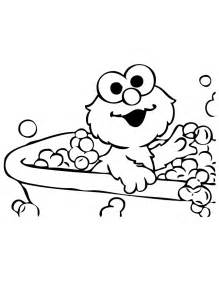 elmo coloring pages baby elmo takes bath coloring page h m coloring pages