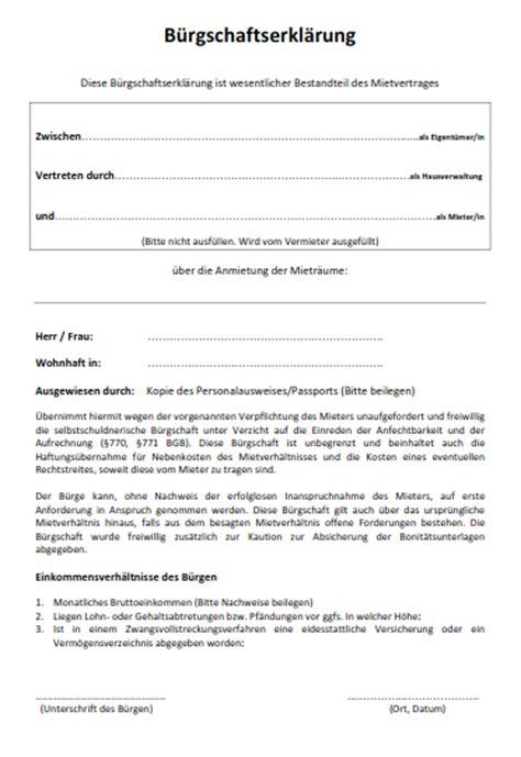 Muster Kündigung Mietvertrag Vom Vermieter Wie Formuliert Eine Miet B 252 Rgschaft Wenn Noch Keine Wohnung Vorhanden Ist Mietrecht