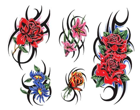 fiori tribali flash gratis per tatuaggi disegni per tatuaggi tatuaggi e