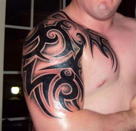 shoulder tribal tattoos for guys 52 most eye catching tribal tattoos