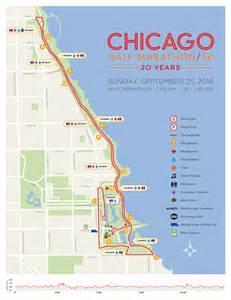 Chicago Marathon Course Map by Chicago Half Marathon Chicago Half Marathon Amp Life Time 5k