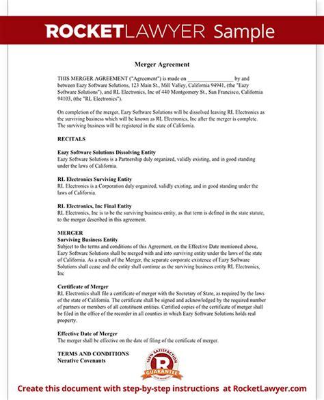 merger agreement template merger agreement form merger agreement template with