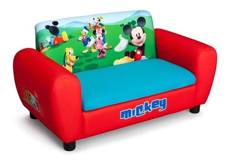 sofa kinder mickey mouse upholstered sofa with storage delta children