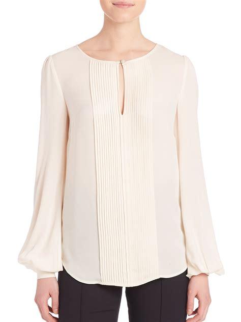Ayala Tunic Ik st silk georgette blouse in pink lyst
