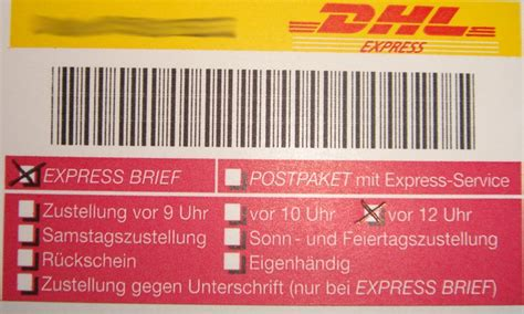Reklamation Dhl Express Brief Dhl Express Brief Gilly S Playground