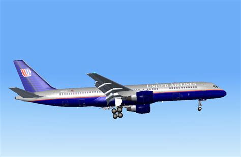 united flight united airlines boeing 757 222 for fs2004